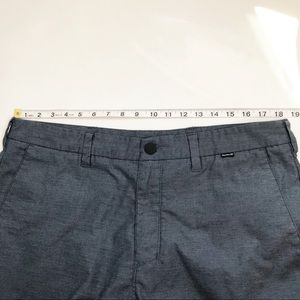 Hurley Shorts - Hurley Men's Blue Nike Dri-Fit Flat Front Short 36